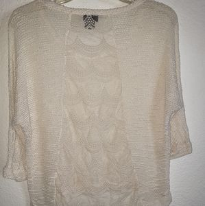 Rue21 Ivory Lacy Back Pullover Top
